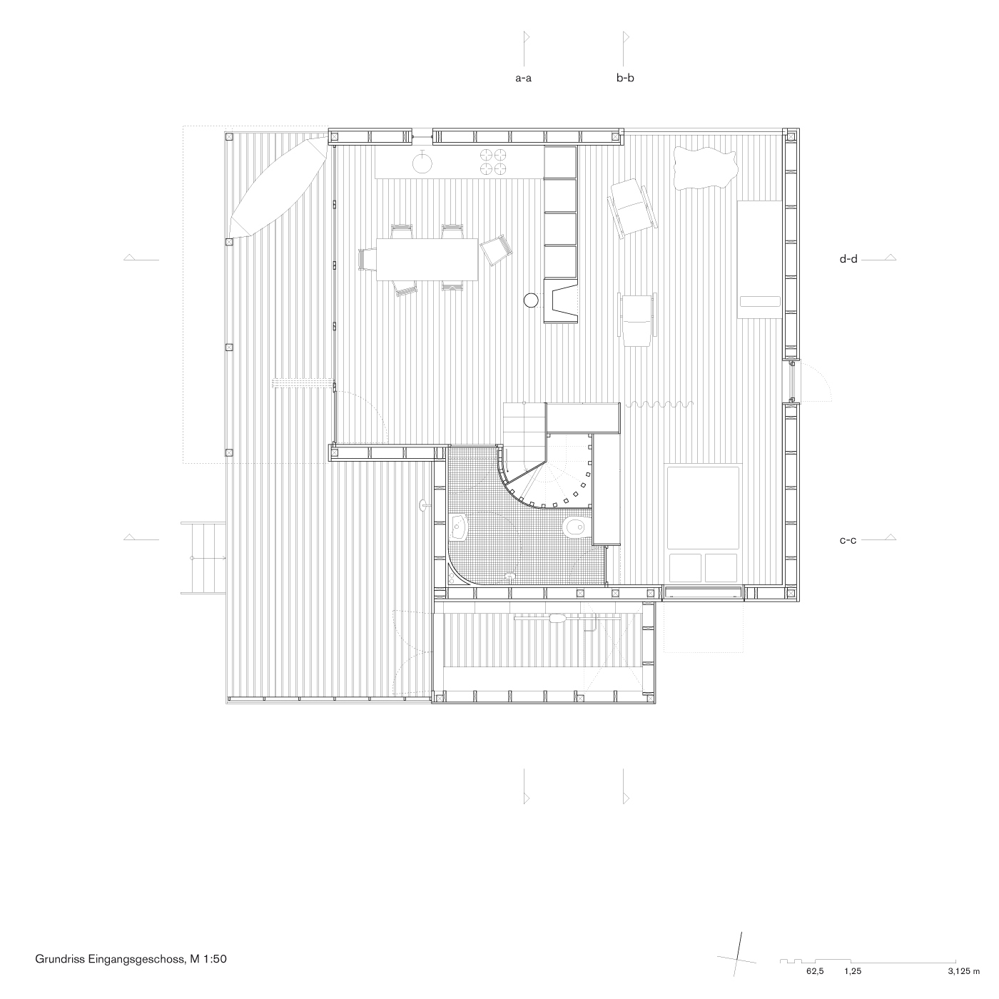 Groung plan entrance floor