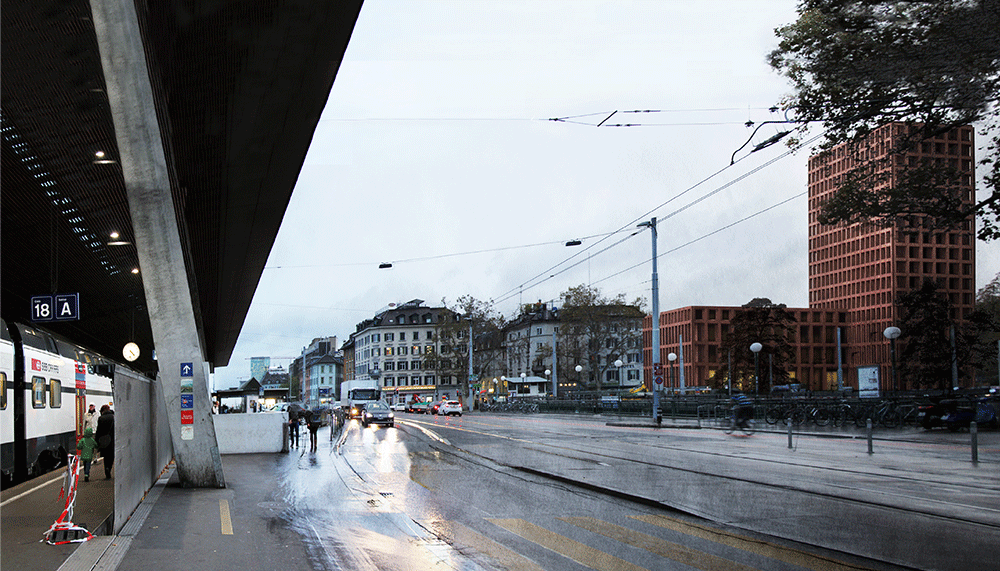 View from the central railway station