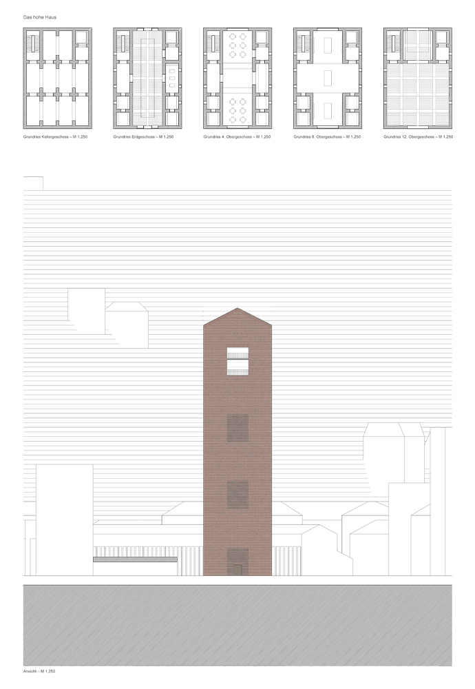 The high House_Ground Plan and View