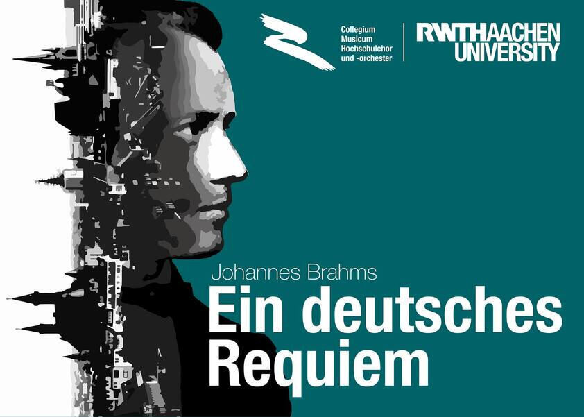 Concert poster with an image of Brahms