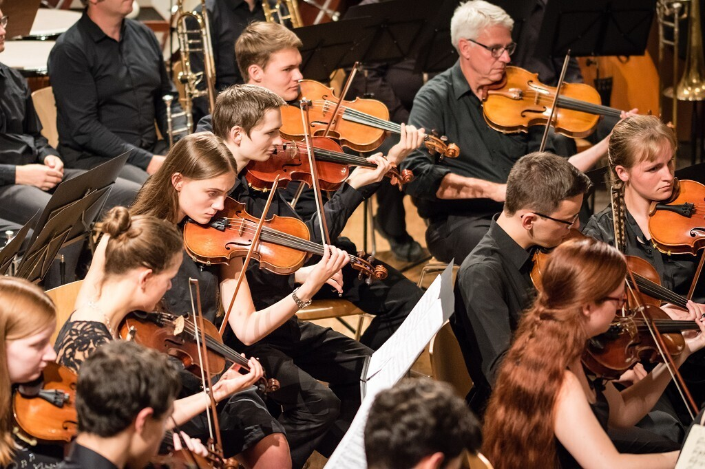 String section at a concert